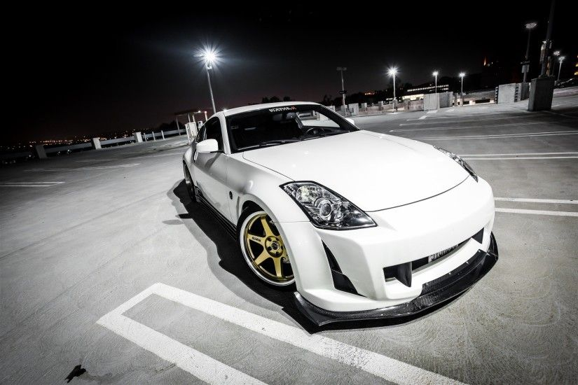 #350Z, #Nissan, #tuning, #car parking, #night,