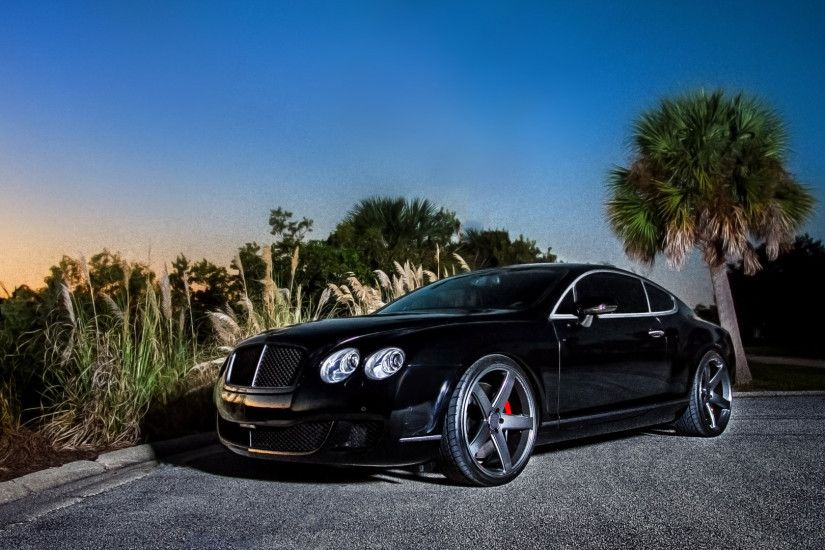 ... Download Wallpaper 1920x1080 Bentley Continental gt Black Side