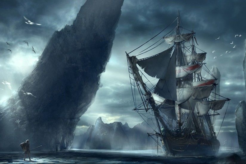 Ghost Pirate Ship Wallpaper Hd
