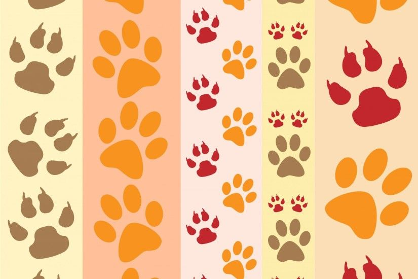 Paw Prints Fun Wallpaper
