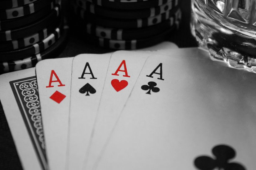 Wallpaper poker, cards, ace, black, white, game, diamonds, spades