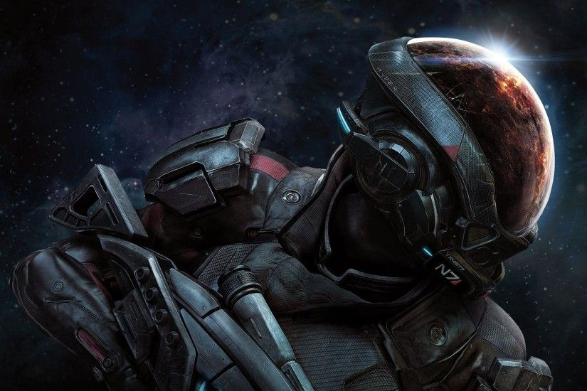 ... Ryder, N7 soldier. A great look at the new features in the game  including the many planets to explore and colonize as well as the new suit  and weapons.