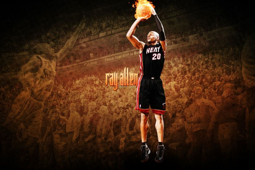 Ray Allen Heat 2560×1440 Wallpaper