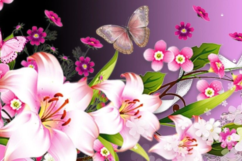 Pink Butterfly Backgrounds | ... hd floral and pink butterfly sony .