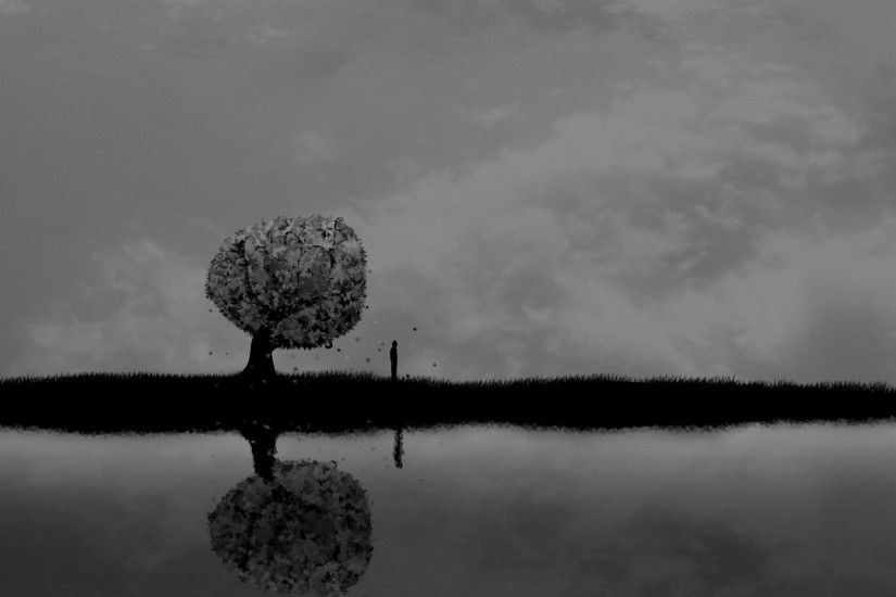 sky, horror, stock images,download,dark, trees art, backgrounds,  reflection, alone, sad, mood, vector, clouds, people, sorrow, lakes,  amazing Wallpaper HD