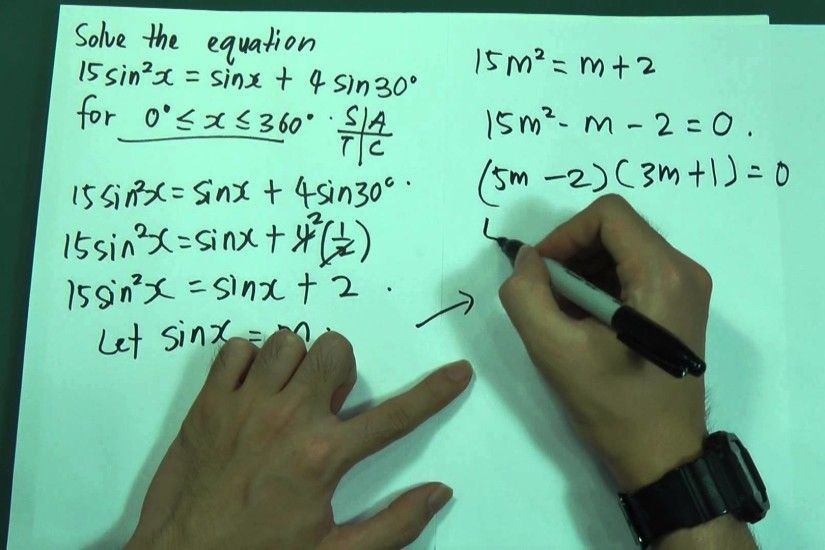 SPM - Form 5 - Add Maths - Trigonometry Function (Short Questions) - YouTube