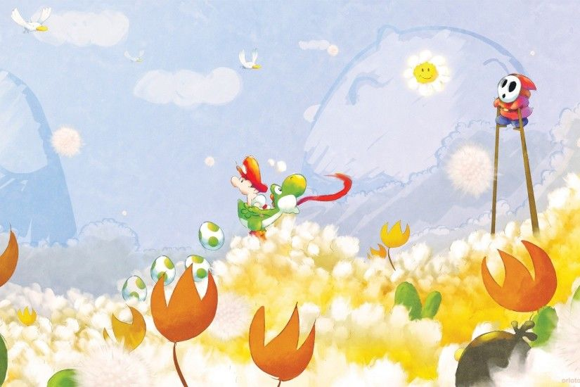 ... Yoshi's Island DS - Fanart - Background ...