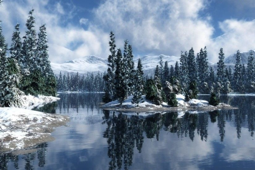 Winter - Lake Trees Reflection Magical Beautiful Wonderland Winter Snow  Wallpaper Iphone 6 Plus for HD