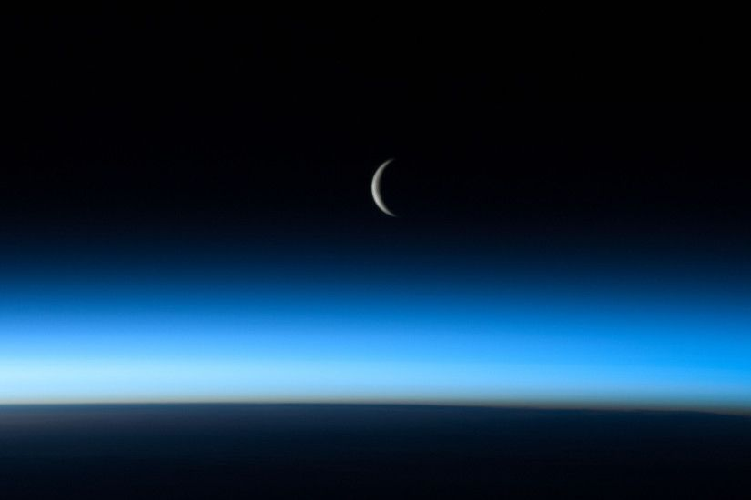 Moon from International Space Station wallpaper