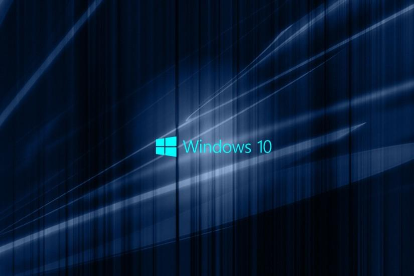 Windows 10 Wallpaper with Blue Abstract Waves | HD Wallpapers for Free