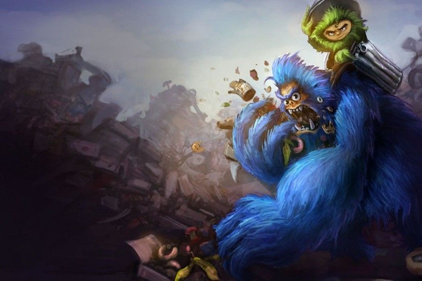 Grungy Nunu Wallpaper - LeagueSplash