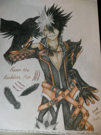 ... Elsword: Raven the Reckless Fist - My Binder Cover by GaleSpider