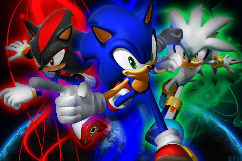 Sonic,Shadow And Silver - Wallpaper by SonicTheHedgehogBG