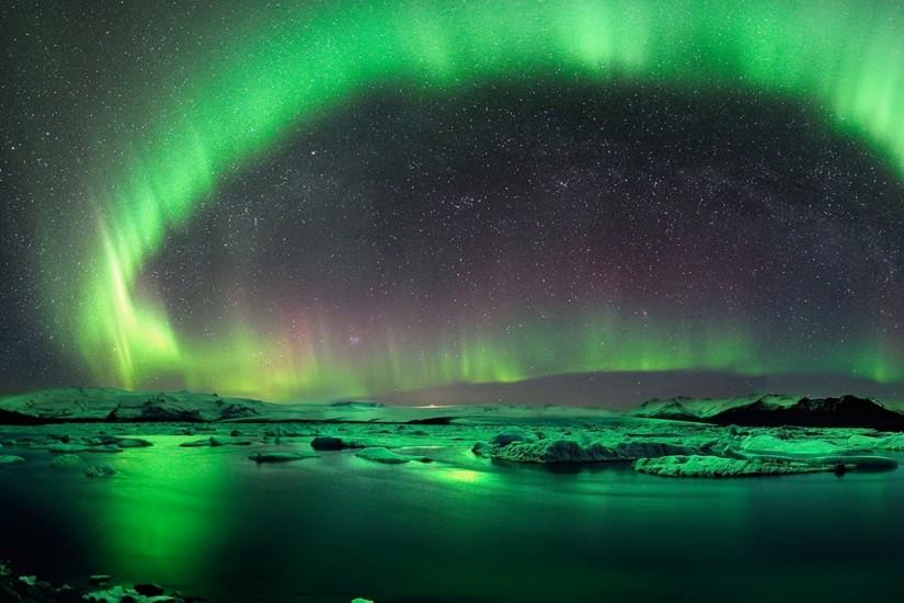 1920x1080 Aurora Borealis Iceland Green desktop PC and Mac wallpaper