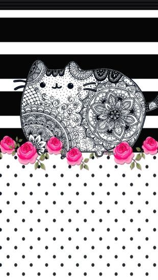Pusheen, Iphone Wallpapers, Zentangle, Doodles, Coloring, Mandalas
