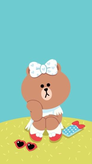 Friends Wallpaper, Line Friends, Wallpaper Backgrounds, Iphone Wallpapers,  Iphone 7, Sanrio, Sally, Kawaii, Stickers. ""