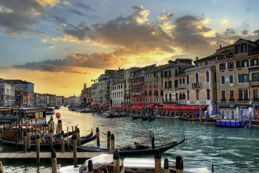 Venice Canals Landscape Italy Wallpaper