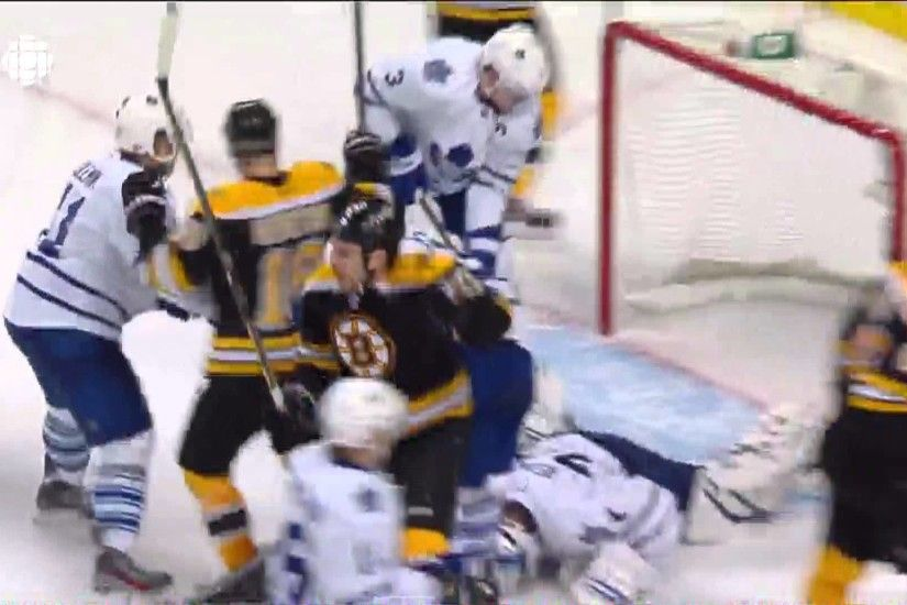Milan Lucic (2) Goal: Game #7 ECQF - Toronto Maple Leafs 4 Boston Bruins 3.  May 13th 2013