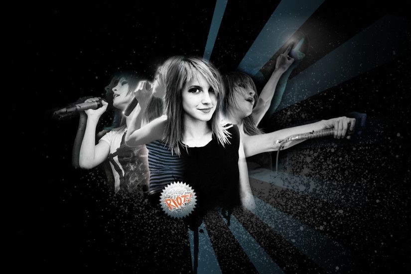 3840x2160 Wallpaper paramore, girl, graphics, background, spray