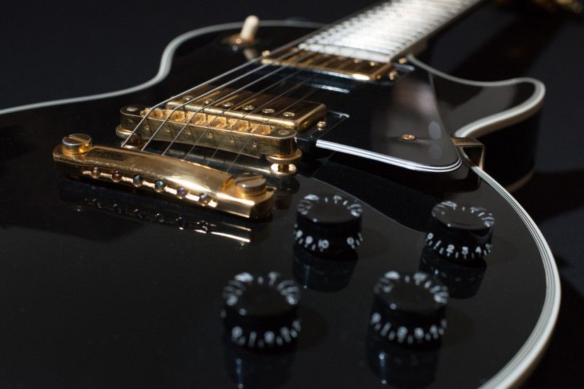 Black Electric Guitar – Gibson Les Paul widescreen .