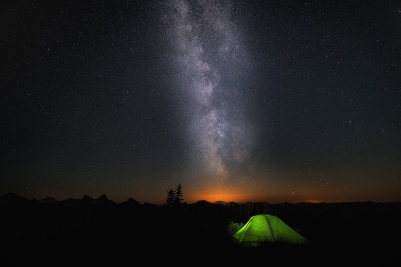 Night Camp Sky Stars Wallpapers | HD Wallpapers