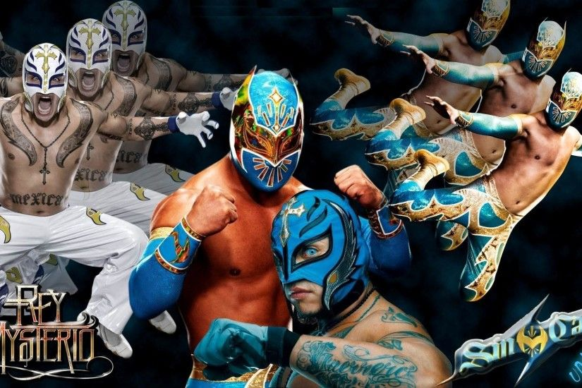 HD WWE Rey Mysterio Different Looks Wallpaper
