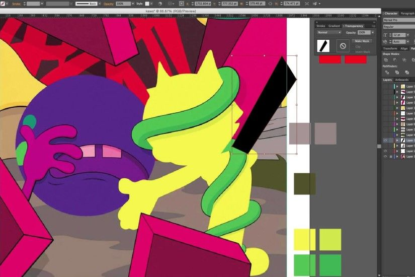 "Kaws ""Presenting The Past""- Re-creation for HVPE MAG"