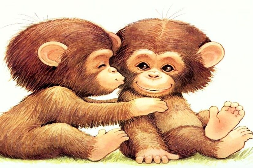 Cute Cartoon Monkey Wallpapers