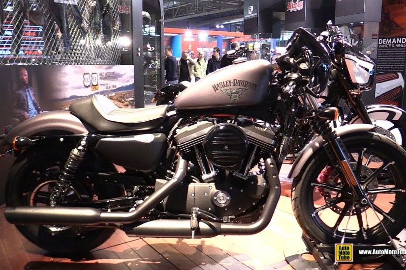 2016 Harley Davidson Iron 883 - Walkaround - 2015 EICMA Milan - YouTube