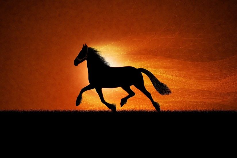 Horse Sunrise Art