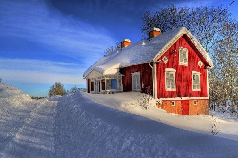 wallpaper.wiki-House-Between-Snow-HD-1920x1080p-Wallpaper-