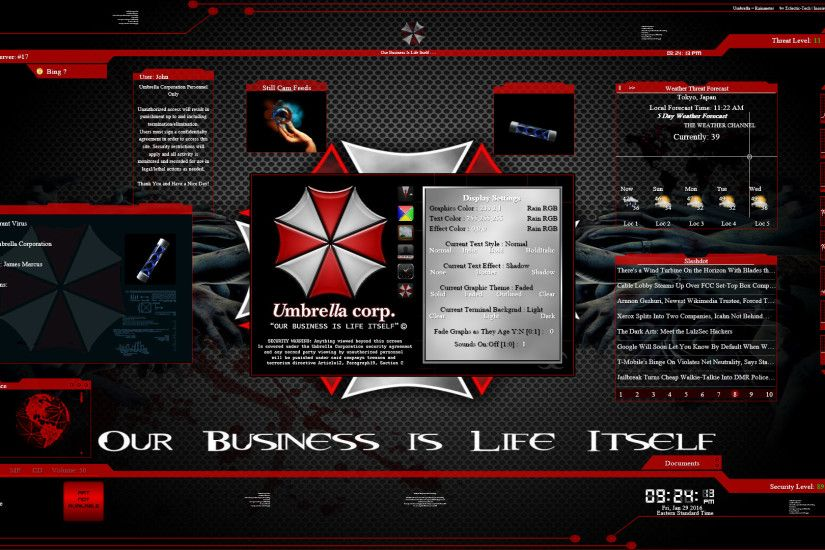 ... Umbrella for Rainmeter by Eclectic-Tech