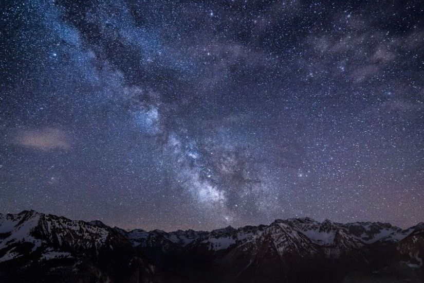 2560x1600 Wallpaper mountains, night, sky, stars