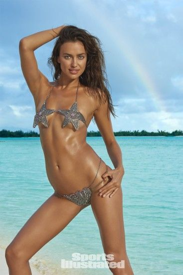 Irina Shayk was photographed by Yu Tsai in The Islands Of Tahiti. Swimsuit  by Lionette