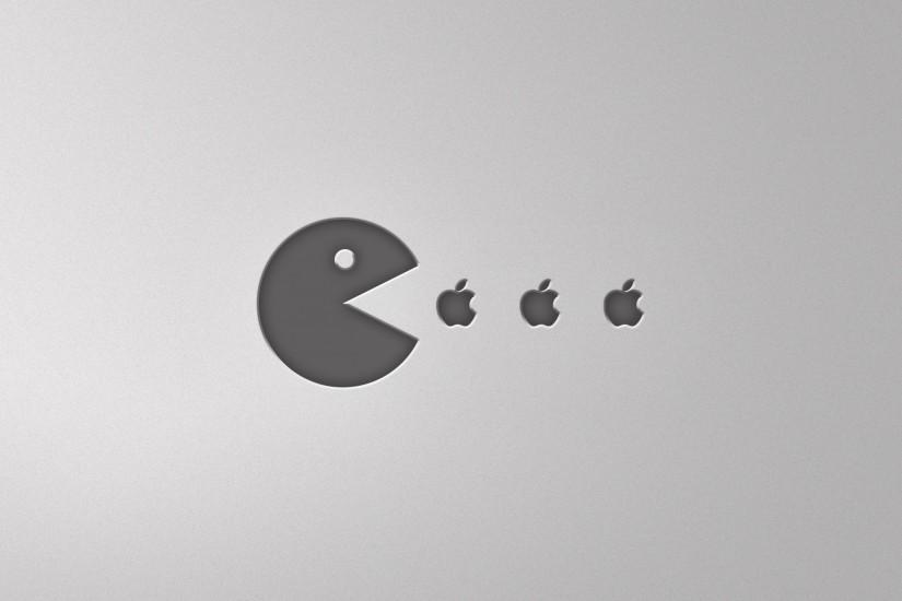 Preview wallpaper pacman, food, apple 3840x2160