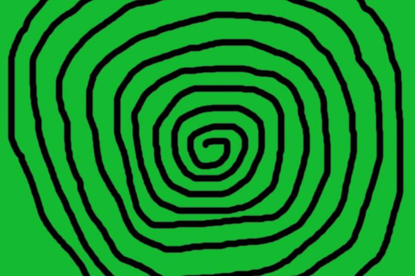 Spiral With Green Background