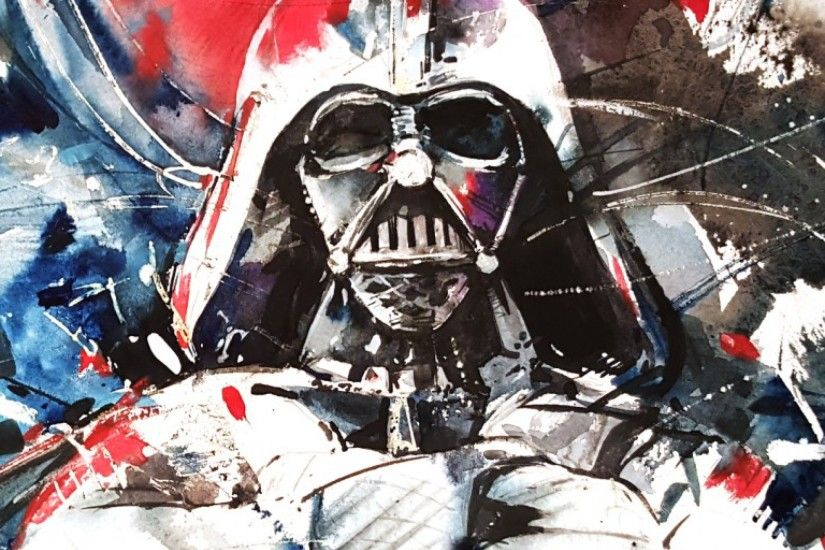 Preview wallpaper darth vader, star wars, abstraction, art 2048x2048