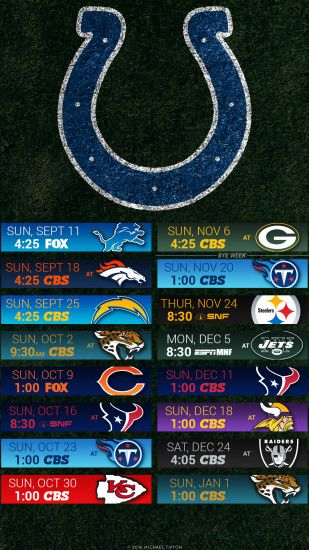 nfl 2016 indianapolis colts iphone android turf schedule background ...
