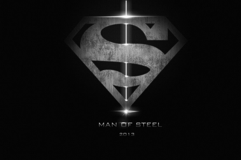 Man Of Steel Black and White HD Wallpaper