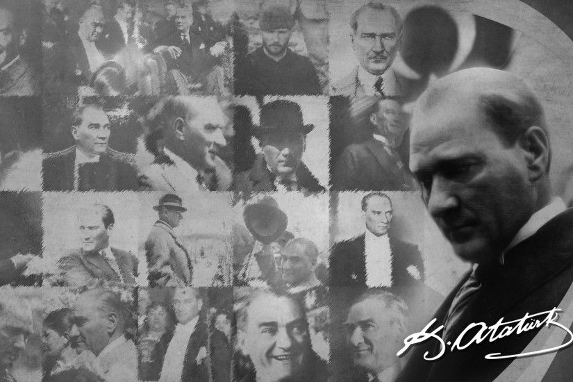 People 1920x1080 Mustafa Kemal Atatürk men monochrome