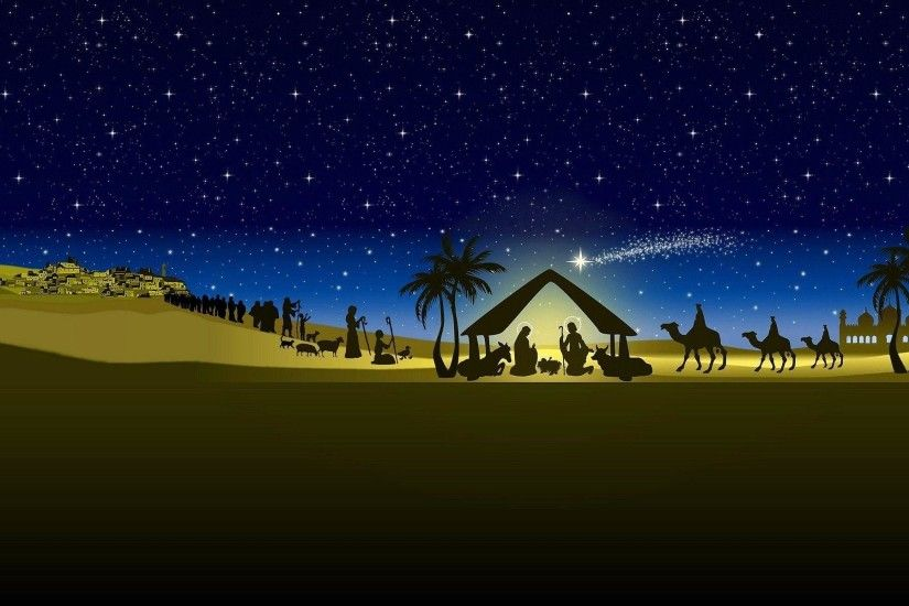 Wallpapers For > Merry Christmas Nativity Backgrounds