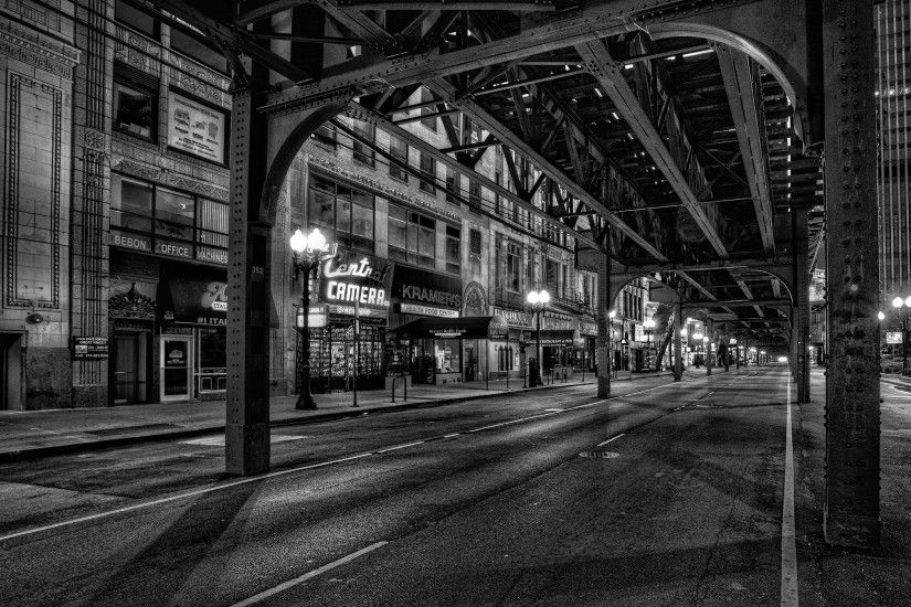Chicago Black And White Wallpapers Hd