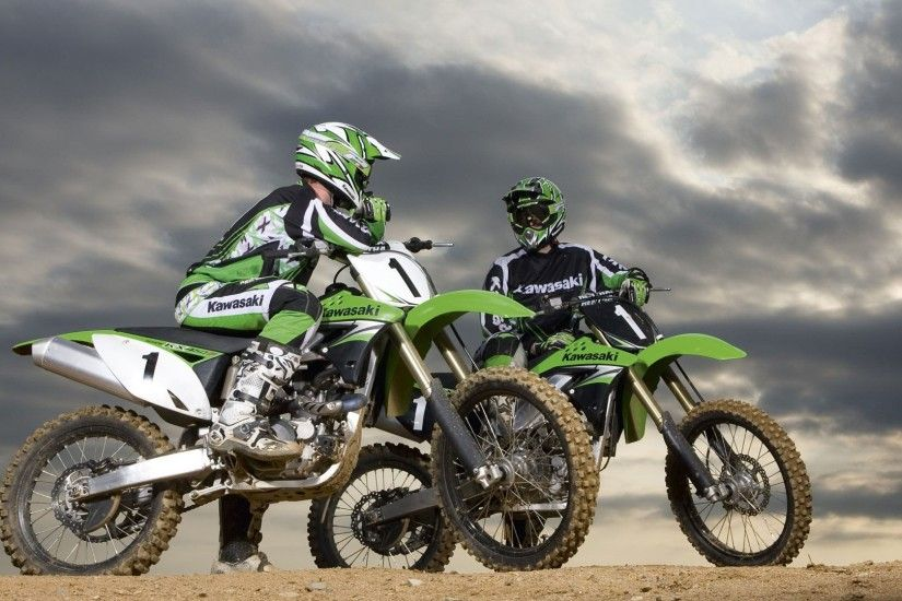 Kawasaki Motocross dirt bikes Ultra HD 4K Wallpapers