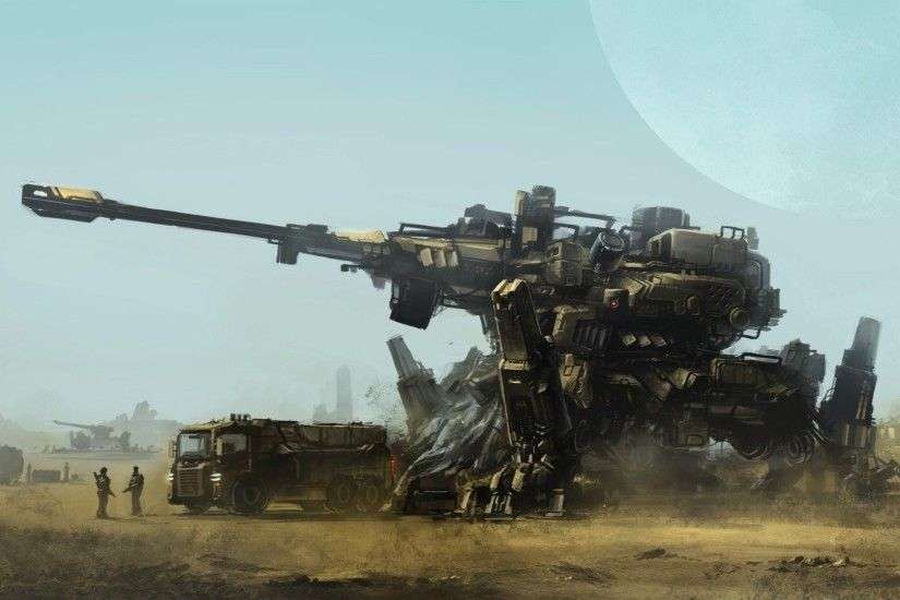 http://www.walldevil.com/wallpapers/w07/artwork-tanks-fantasy-art-concept-art-war-soldiers-futuristic-mechs.jpg  | Fantasy and Sci-Fi Art | Pinterest | Sci ...