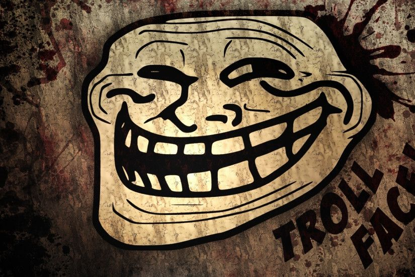 2048x1152 Wallpaper trollface, troll, face, comic, humour, smile, teeth