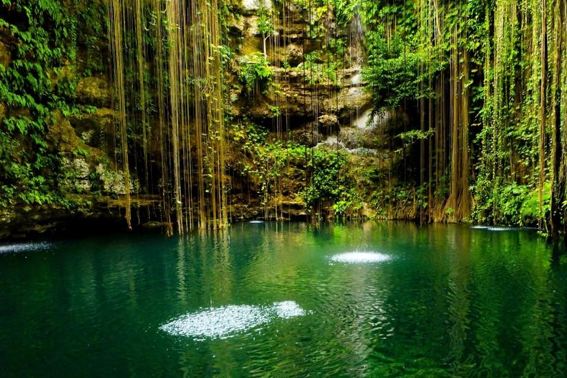 Beautiful-Nature-Wallpaper-Trees · Mexico, Yucatan, Scenic lake