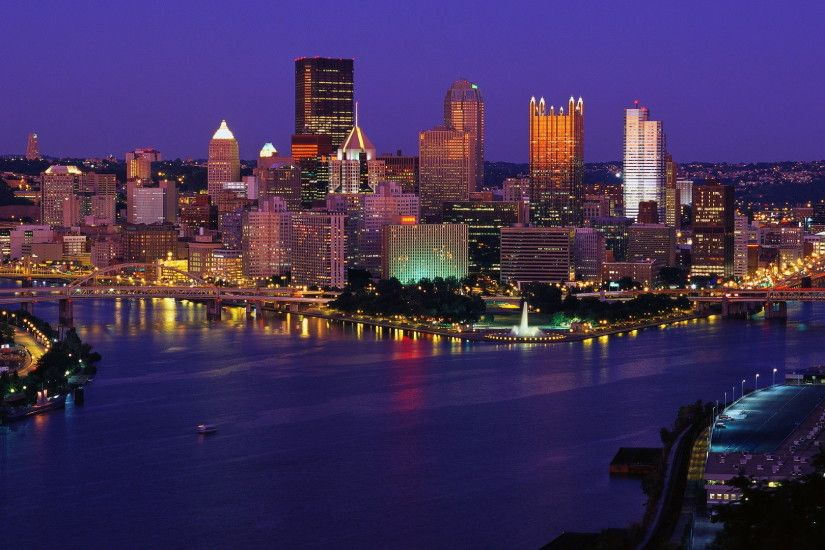 Pittsburgh Skyline at Night Wallpaper | pittsburgh skyline picture hd  dekstop wallpapers of pittsburgh usa