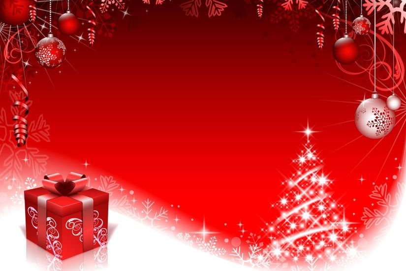 Red style Christmas background art vector 01 - Vector Background .
