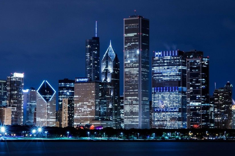 Chicago Skyline Wallpaper Download Free