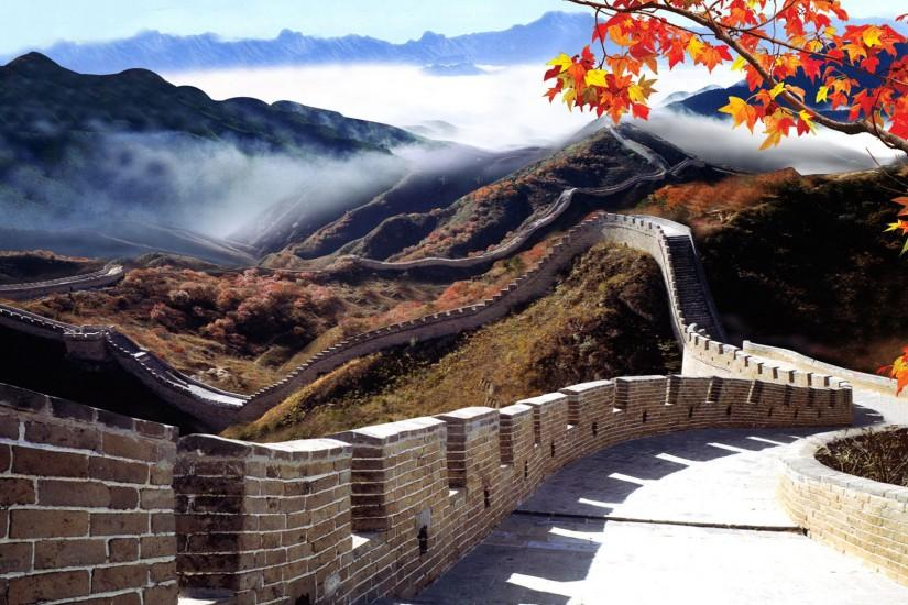 Great Wall of China Under Fog Wallpaper - Travel HD Wallpapers